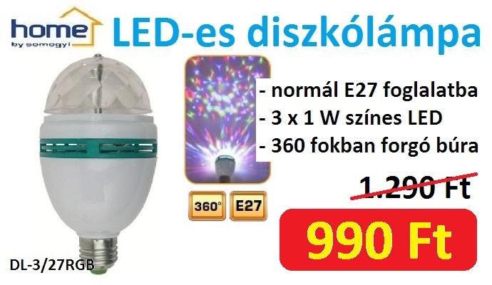 LED-es diszkólámpa