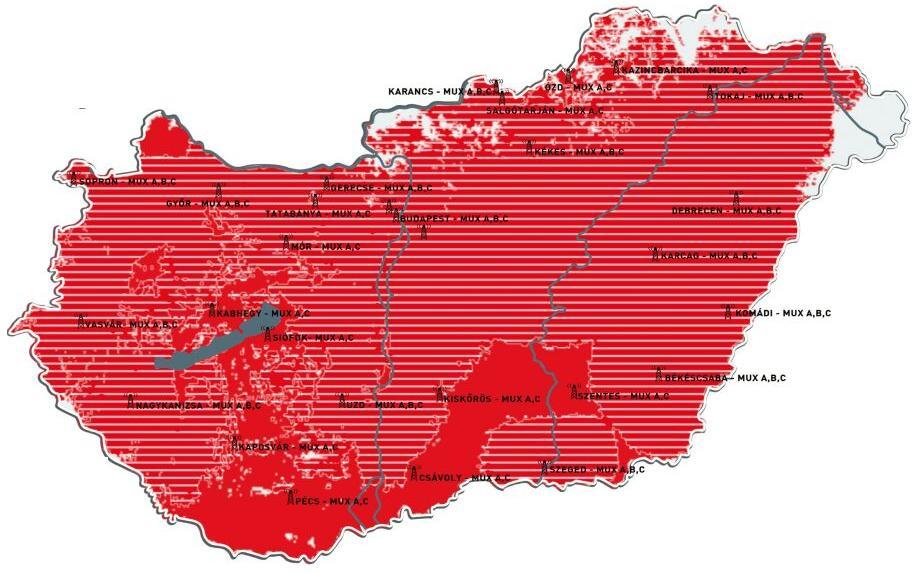mindig tv adótornyok térkép MinDigTVextra   TV Elektronika üzlet Dunaújváros